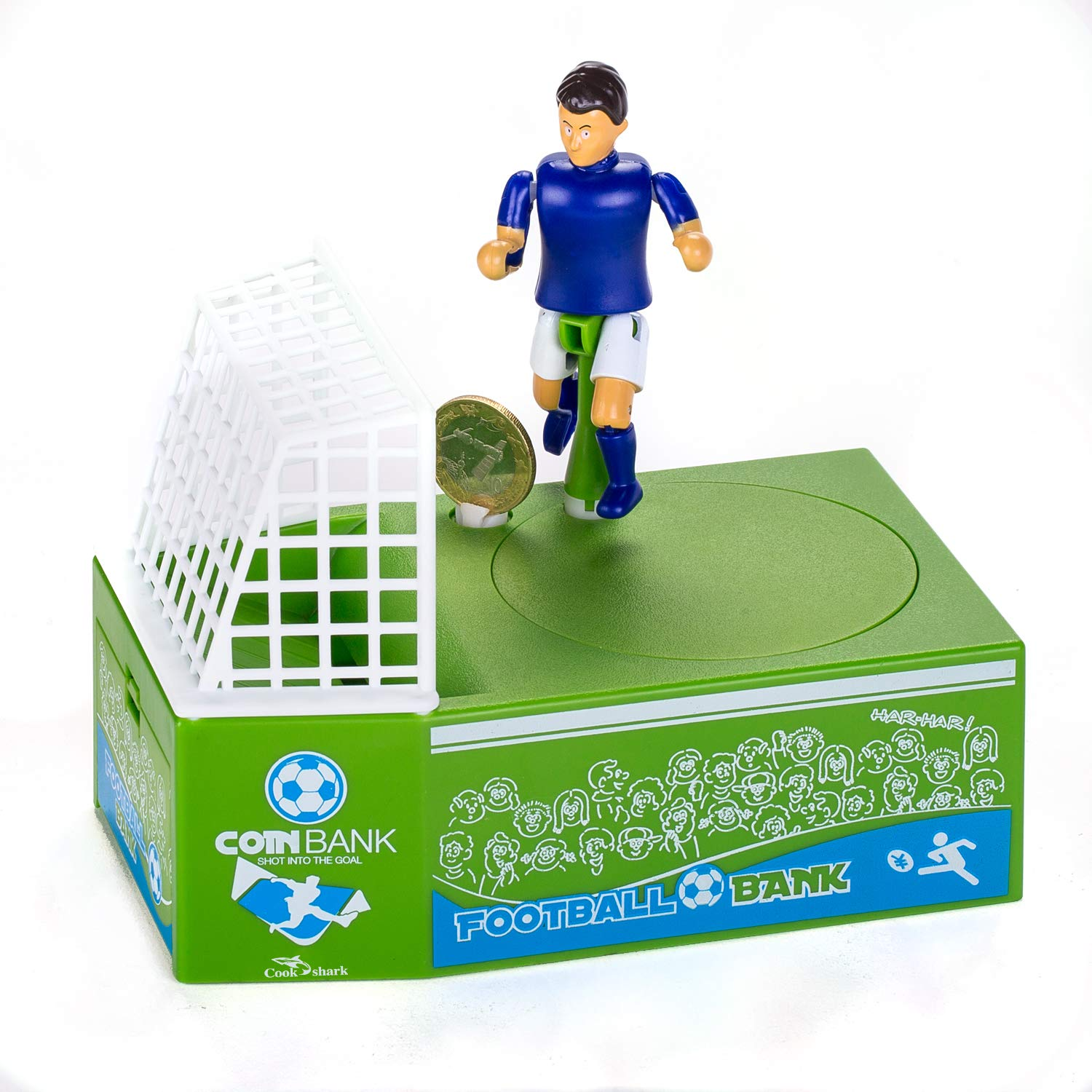Cestlafit Cute Soccer Shooting Coin Bank, Coin Munching Toy Money Box, Football Player Toy Coin Bank, Money Saving Box, Money Bank For Kids by Cestlafit