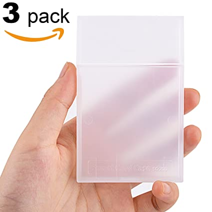 maxgear clear plastic business card holder super lightweight business card holders for men women - Business Card Case