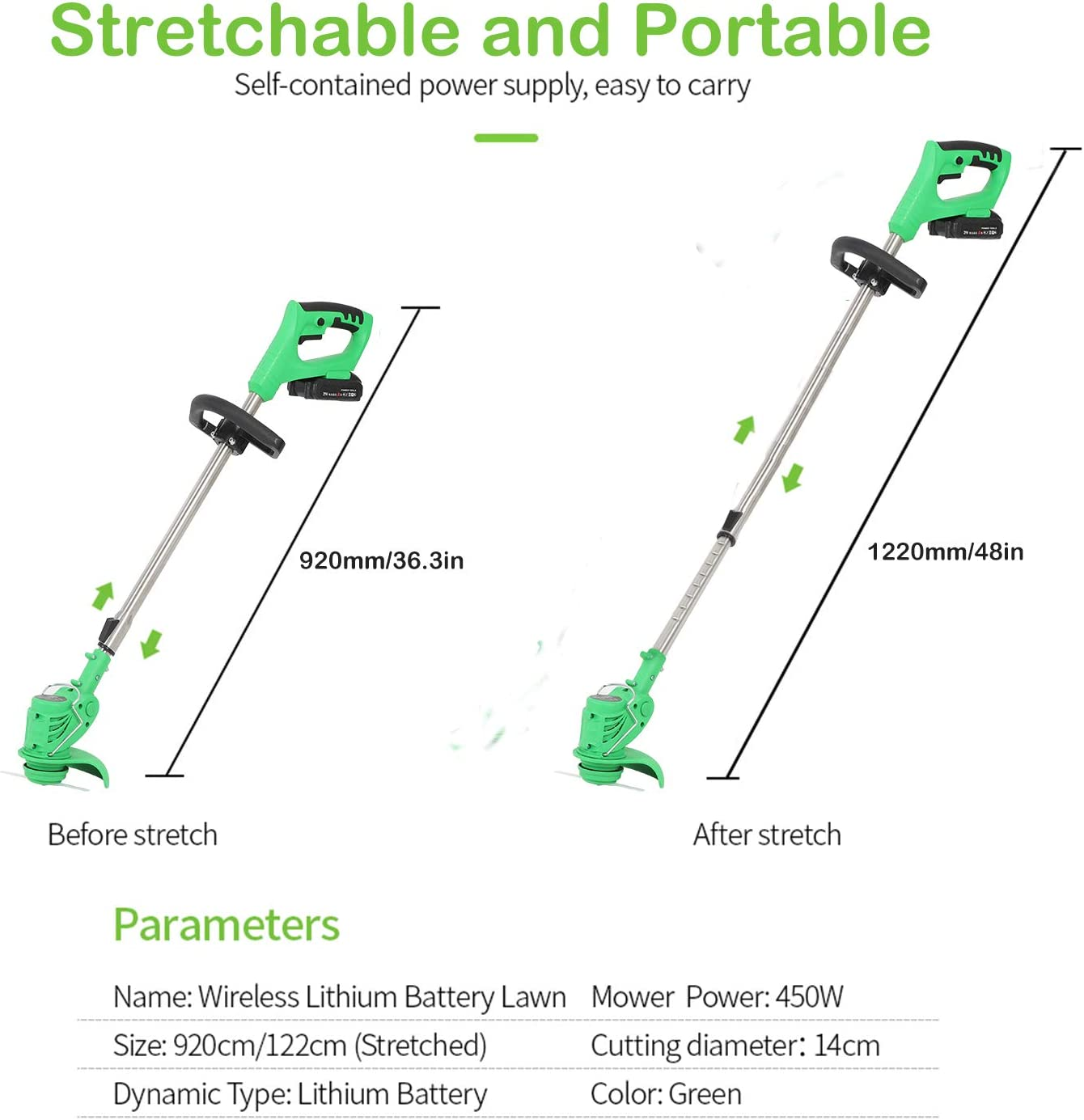Wailiy Cordless String Grass Trimmer Weed Eater with 24V Lithium ...