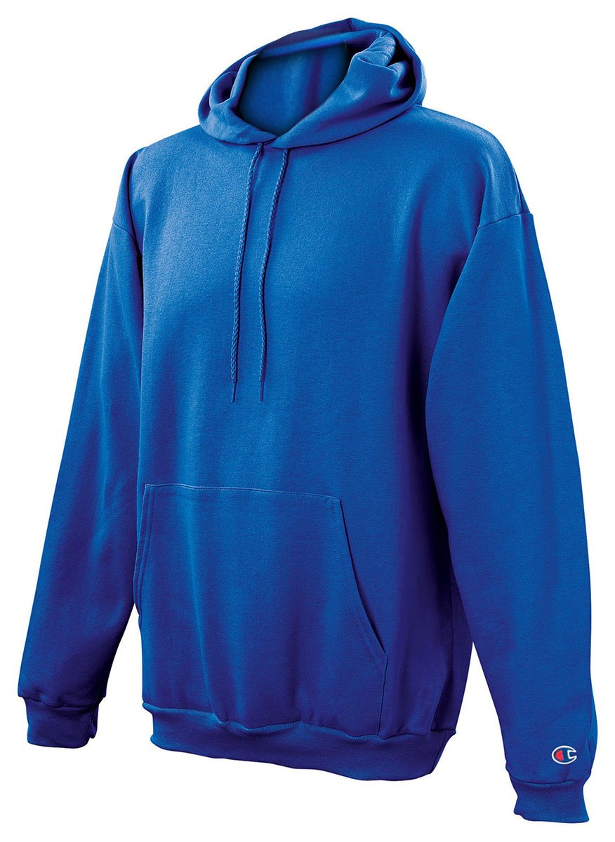Champion Men's Front Pocket Pullover Hoodie Sweatshirt, Large, Royal