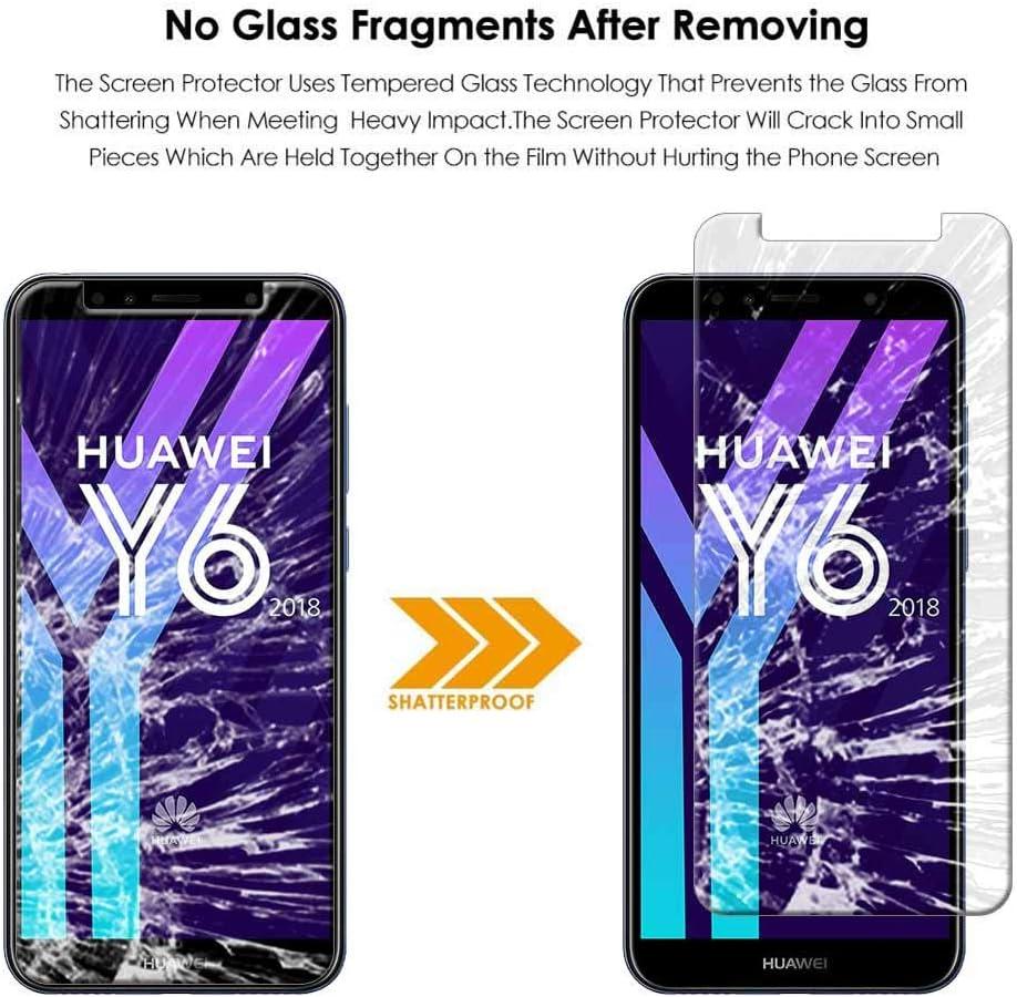 Kompatibel mit Huawei Y6 2018 Honor 7A Panzerglas Schutzfolie Anti-Kratzen Transparent 9H H/ärte Ultra-Durchsichtig HD Displayschutzfolie Geh/ärtetem Glas Schutzglas Panzerglas Folie