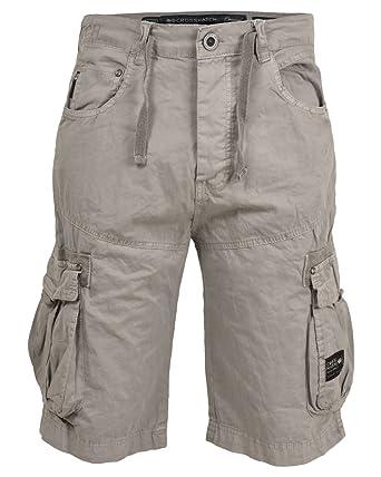 Herren Designer Crosshatch Twill Cargohose Baumwolle Lange Shorts Bermuda  Hosen  Amazon.de  Bekleidung 8379274cdb