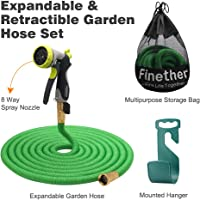 Finether Advanced 50ft Garden Hose Expandable w/ Double Latex Core 3/4