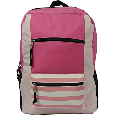 "18"" Contrast Basic Backpack Book Bag Day Pack"