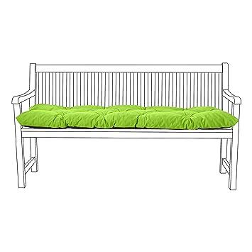 Gardenista Outdoor Garden 2 Seater Swing Cushion in Water Resistant Fabric Ties Grey. Made in the UK 150x50x7cm