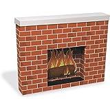 Amazon.com: Cardboard Christmas Fireplace Prop: Home & Kitchen