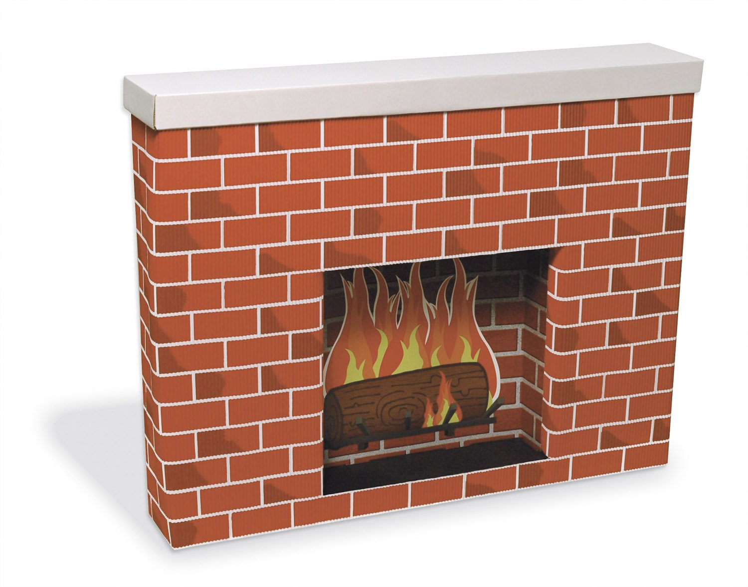 amazon com pacon pac53080 corobuff cardboard fireplace decoration