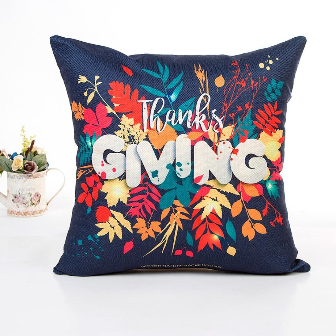 Amazon.com: iusun agradecimiento Giving Día Funda de ...