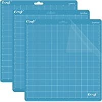 Ecraft LightGrip Cutting Mat for Silhouette Cameo 3/2/1: 12X12inch Adhesive&Sticky Flexible Square Gridded Blue Quilting…