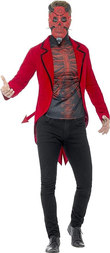 Smiffys Smiffys-44938L Disfraz de Diablo del día de Muertos, con ...