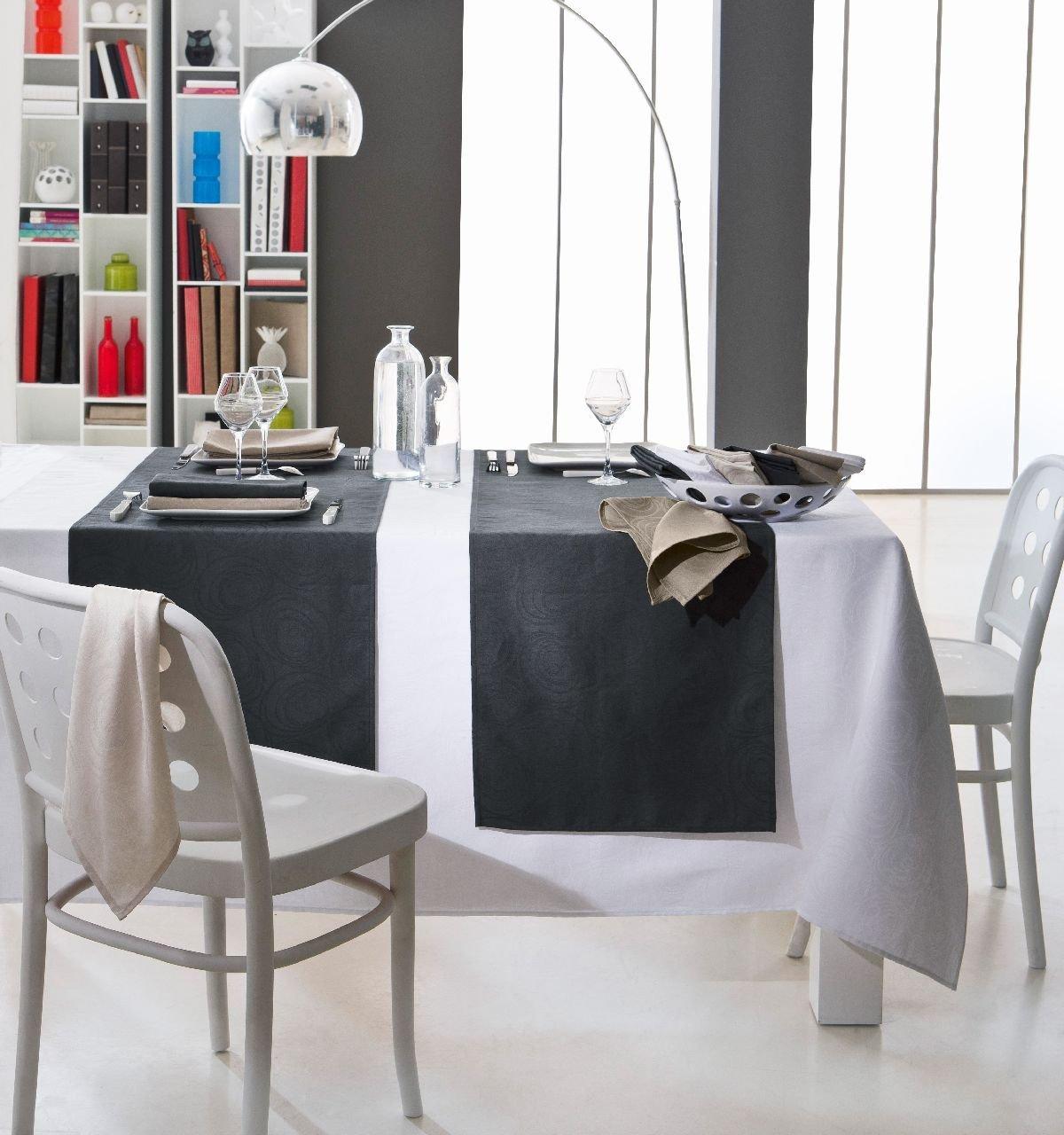 Tradilinge ~ Espiral Blanco – rel6722, algodón, Blanco, Blanco, Blanco, Nappe 150x250 446b32