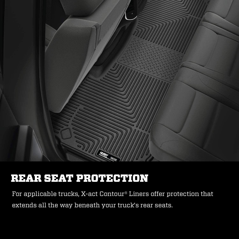 Husky Liners Fits 2019 Dodge Ram 1500 Quad Cab X-act Contour 2nd Seat Floor Mat