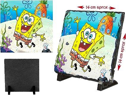 PLACA PIZARRA BOB ESPONJA DIBUJO PIÑA MAR portafotos portafoto: Amazon.es: Oficina y papelería