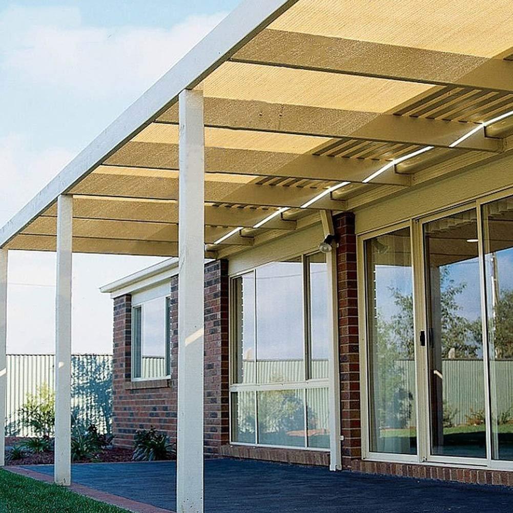 Dimensioni : 2x2m Formato Personalizzato CAIJUN Rete Parasole Allaperto Addensare Protezione Solare Protezione UV al 90/% Traspirante Lavabile Stanza del Sole Beige