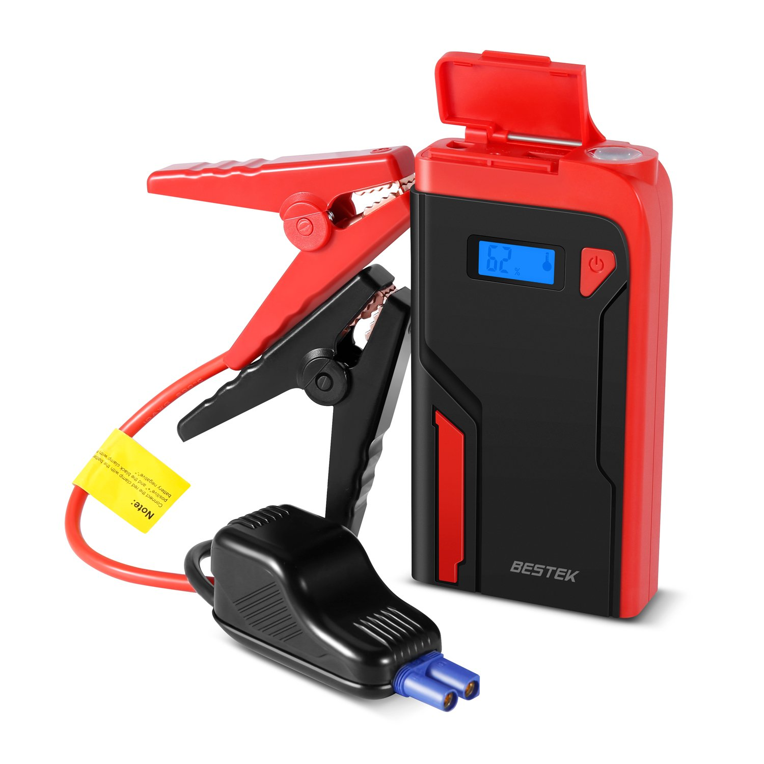 Car Jump Starter, BESTEK 400A 12000mAh 12V Portable Auto Battery Booster Pack, Power Bank with Dual USB Ports LED Light LCD Screen by BESTEK