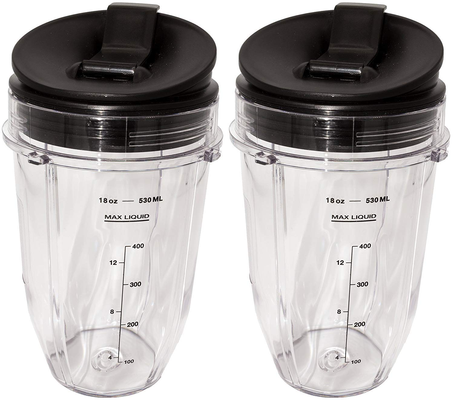 Ninja 2 Pack Small 18 Ounce Cup with Sip N Seal Flip Lids, Fits Nutri Ninja Auto-iQ 1000w Series Blenders