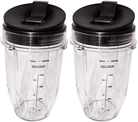 Amazon.com: Ninja 2 Pack Small 18 Ounce Cup with Sip N Seal ...