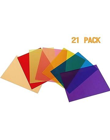 3cf05d171474a5 Best Starloop 21Pack Light Gels Colored Overlays Transparency Color Film  Plastic Sheets Correction Gel Light Filter