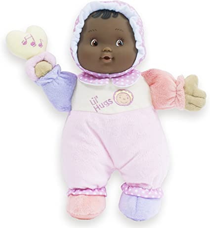 JC Toys Lil' Hugs African American Pink Soft Body, 12