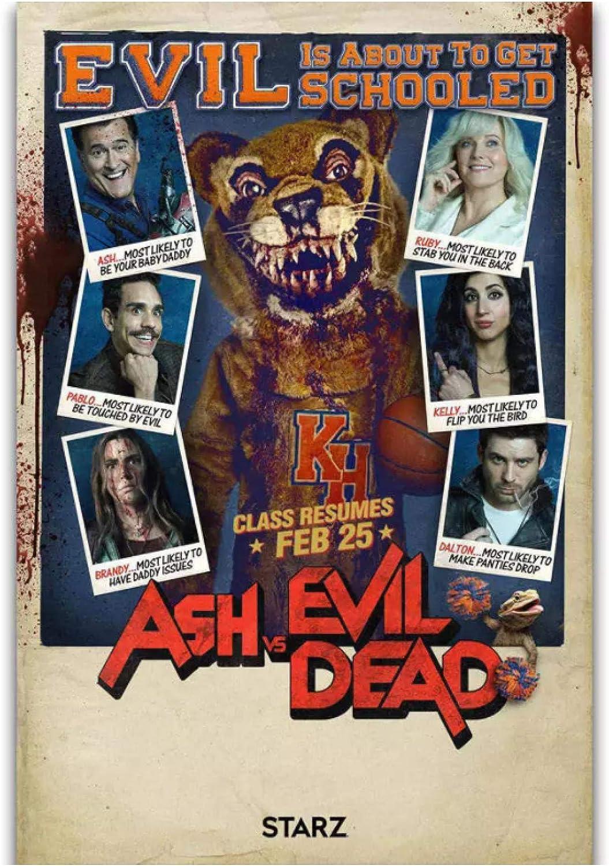 Ash vs Evil Dead Season 3 Horror serie de TV pintura póster impresiones lienzo cuadro de pared para la decoración de la habitación del hogar-50x70cm sin marco