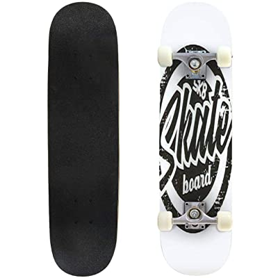 Classic Concave Skateboard Vector Illustration on The Theme of Skateboard and Skateboarding Longboard Maple Deck Extreme Sports and Outdoors Double Kick Trick for Beginners and Professionals : Sports & Outdoors