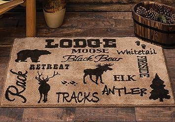 amazon com cabin life lodge kitchen bath rug wilderness decor rh amazon com