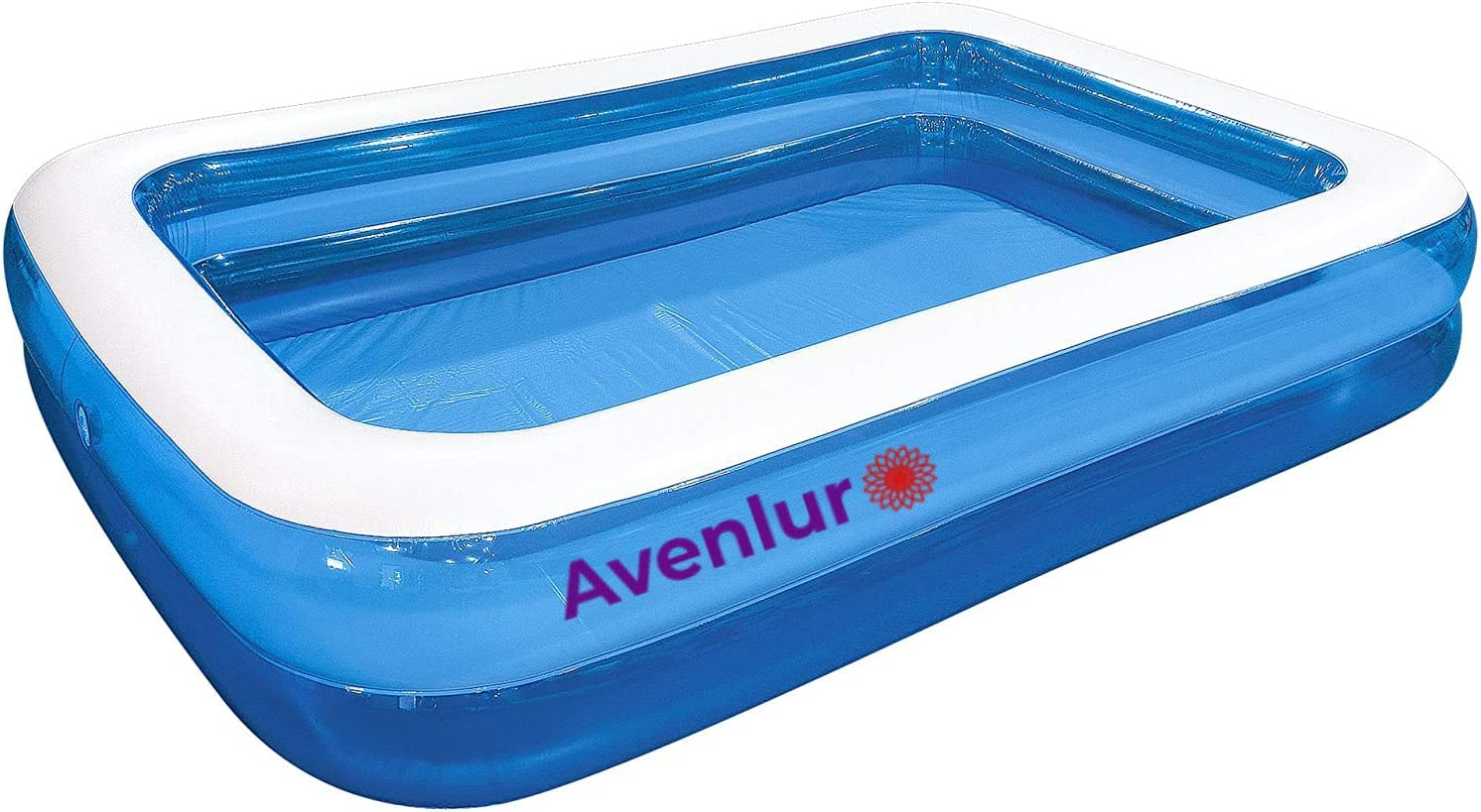 Avenlur Family Inflatable Swimming Pool Kids and Toddlers 120 X 72 X 20 Thick Paddling Pool Summer Water Backyard Pool Party 10 ft Long Backyard Family Pool for Adults