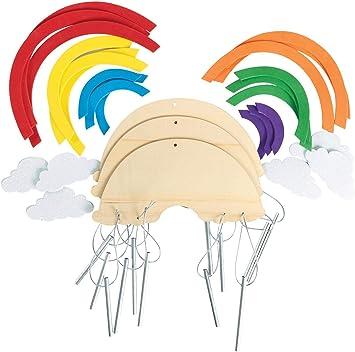 Bunt Windspiel Kindergarten Dekorativ Regenbogen 80 Cm Twisted Neueste
