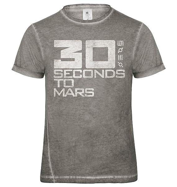 LaMAGLIERIA Camiseta Hombre Vintage Look 30 Seconds To Mars Logo Grunge Print Cod. Grpr0004 - t-Shirt dnm Plug in Vintage con… jbaKn2lMNl