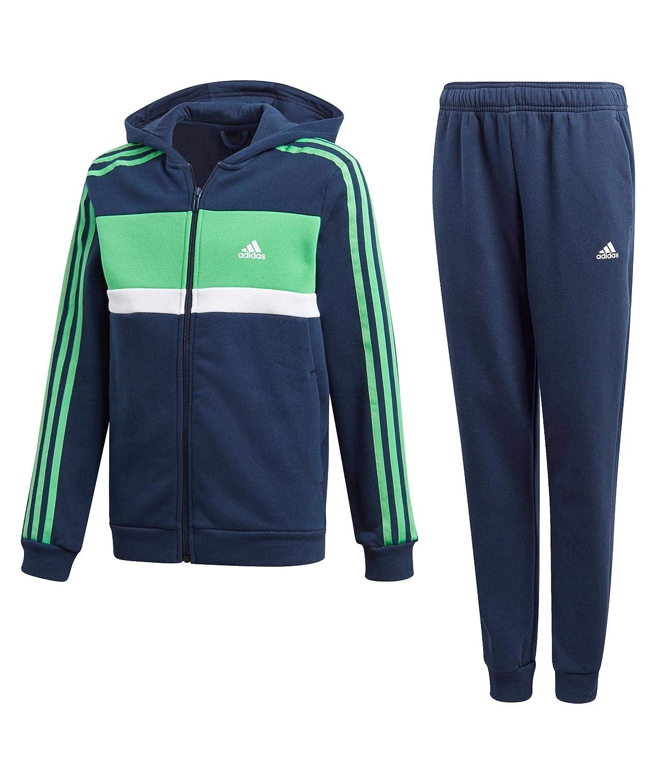 Adidas Boys Kids Track Suit Training Running Hoodie Pants Gym School