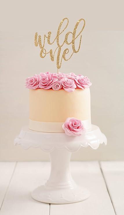 qidushop Wild One Decoración para tarta de primer cumpleaños ...