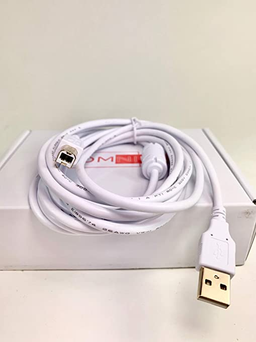 OMNIHIL 8FT-White High Speed USB 2.0 Cable Compatible with Klipsch The Three