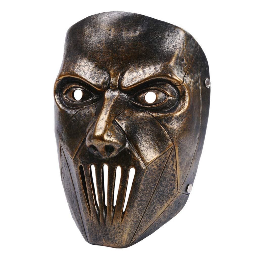Deluxe Halloween Kostüm Party Requisiten Resin Scary Horror Gesichtsmaske (Farbe : Gold)
