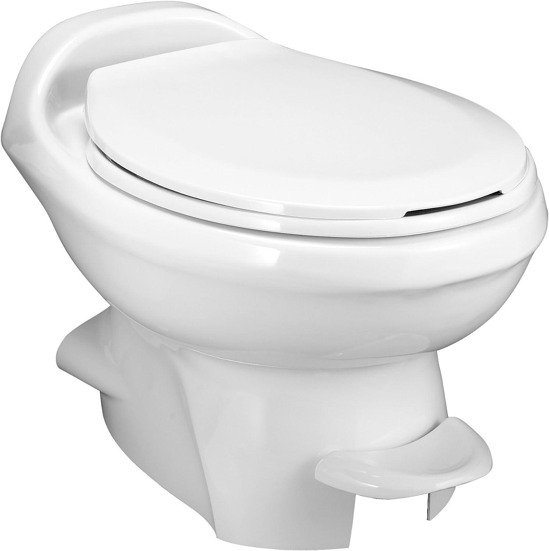 Aqua-Magic Style Plus RV Toilet / Low Profile / White - Thetford 34433