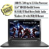 2016 Lenovo Premium High Performance 15.6-Inch HD Laptop, AMD FX-7500 APU with Radeon R7 Graphics, 8 GB RAM, 1 TB HDD, Windows 10 Home