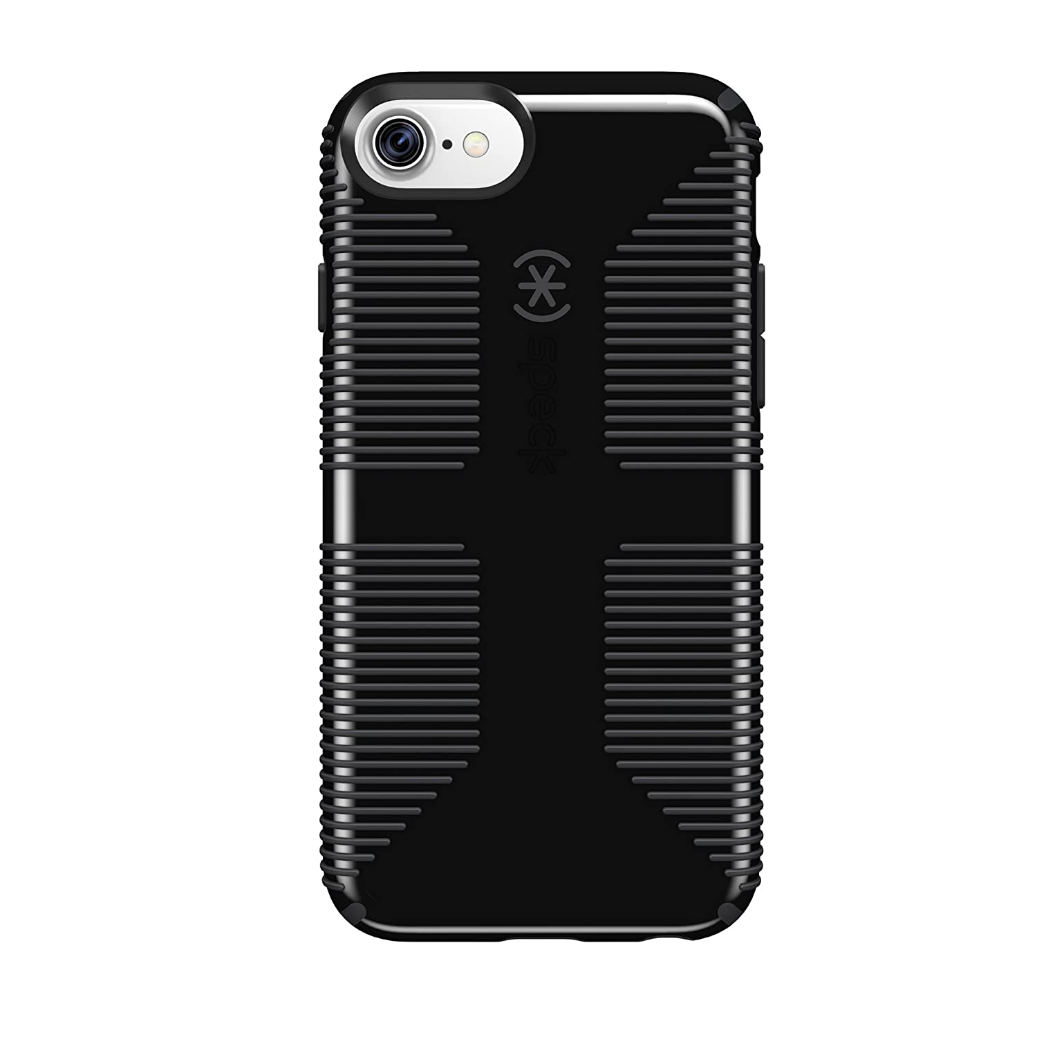 san francisco 586d0 8fb2a Speck Products CandyShell Grip Cell Phone Case for iPhone 8/7/6S/6 -  Black/Slate Grey