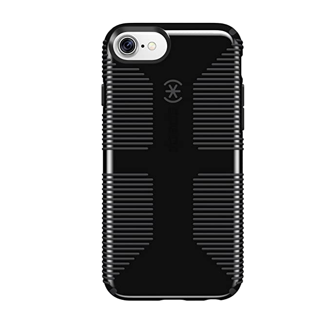 san francisco 391e8 571ce Speck Products CandyShell Grip Cell Phone Case for iPhone 8/7/6S/6 -  Black/Slate Grey