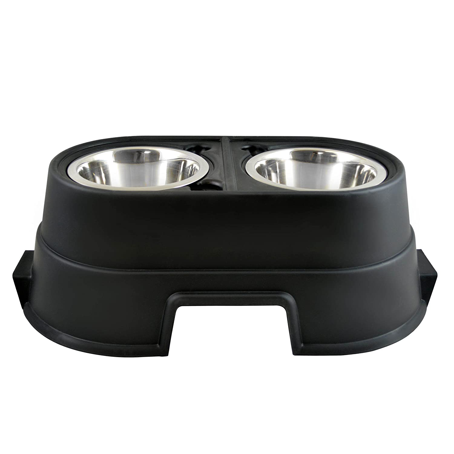 OurPets Healthy Pet Diner Elevated Feeder Black 8 inches
