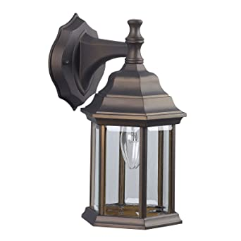 Oil Rubbed Bronze Outdoor Exterior Wall Lantern Light Fixture Sconce  Lighting