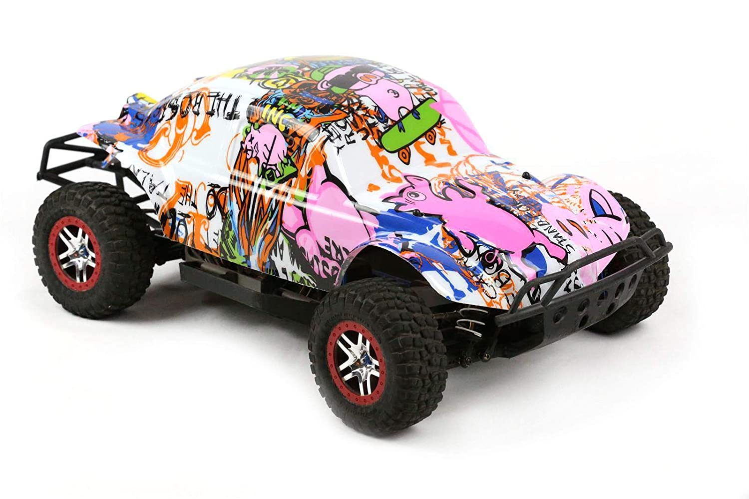 Amazon com compatible custom body graffiti pink pig style replacement for 1 10 scale rc car or truck truck not included ssb pig 01 toys games