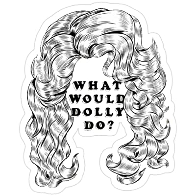Vijk kor What Would Dolly Do? Stickers (3 Pcs/Pack): Kitchen & Dining