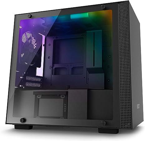 NZXT H200i - Caja PC Gaming Mini-ITX - Panel de vidrio templado - Preparado para refrigeración líquida - Negro - Versión 2018: Amazon.es: Informática