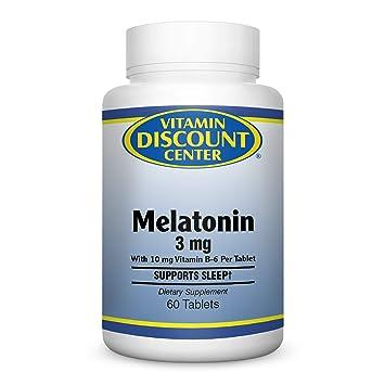 Amazon.com: Vitamina Descuento Center – Melatonina 3 mg ...
