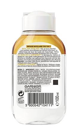 Garnier Skinactive Biphase Micellaire todo en 1 100 ml - juego de 2: Amazon.es: Belleza