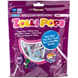 Zollipops Clean Teeth Lollipops | Anti-Cavity, Sugar Free Candy with Xylitol for a Healthy Smile - Great for Kids, Diabetics and Keto Diet (Grape, 3.1oz)