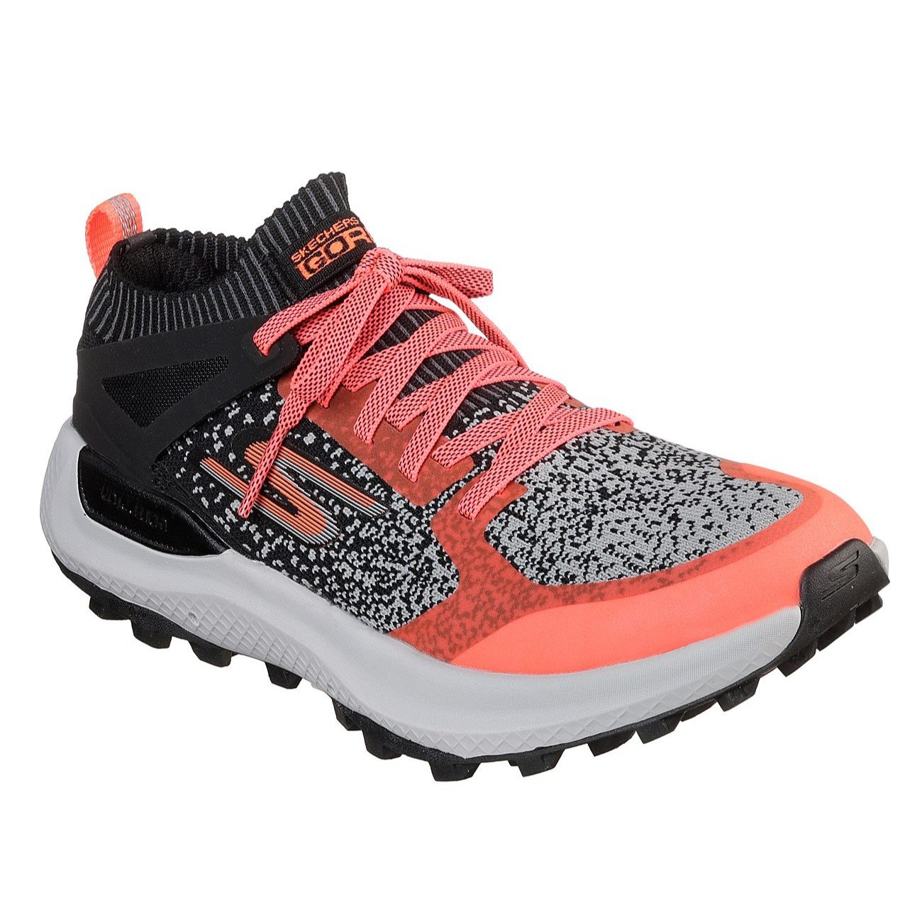 Skechers Women's GOrun MaxTrail 5 Ultra Shoe B079D9M1DL 9 B(M) US|Black/Hot Pink