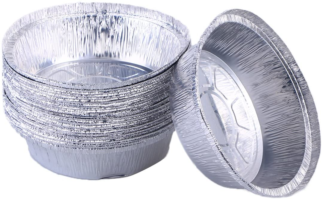 BESTONZON Disposable Aluminum Foil Tart/Pie Pans|Perfect for Homemade Pies Tart Quiche - 6 Inch |Pack of 30