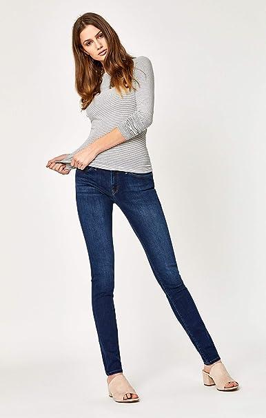 Mavi Womens Alexa Mid-Rise Skinny Jeans 34W X 32L Jet Black