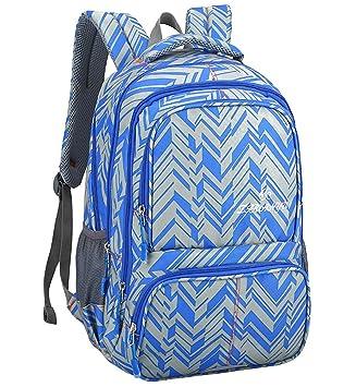 Mochila - Estudiantes Niños Adultos Unisex Patrón de Cuadros Durable Daypack (Azul): Amazon.es: Equipaje