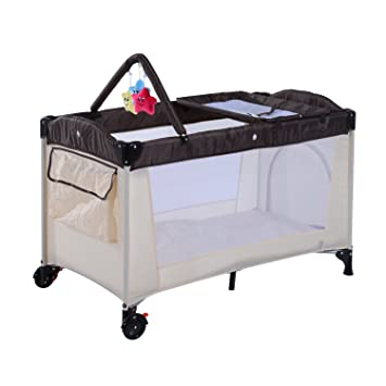 hom  baby travel cot portable playpen kids bed hammock changing table diaper change rack bassi  entryway hom  baby travel cot portable playpen kids bed hammock changing      rh   amazon co uk